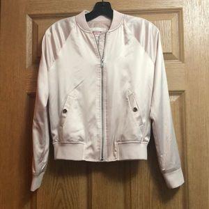 Mossimo Light Pink Satin Bomber Jacket